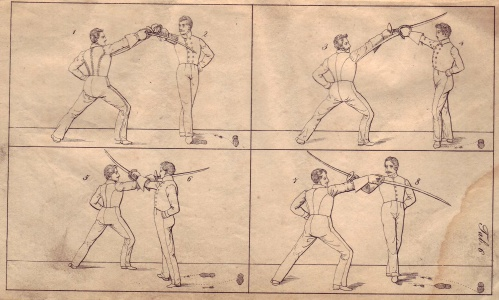 Saber Fencing; Germany, 1838