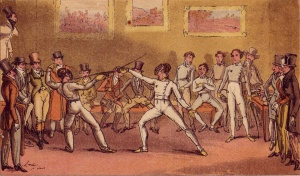 An Assault At Foils at the Angelo School of Fencing at Haymarket