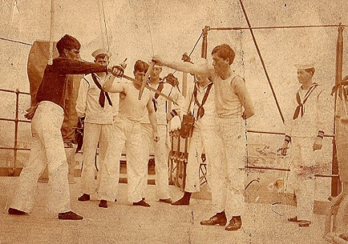 A bout at cutlass fencing