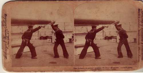 U.S. Navy Cutlass Practice 1898