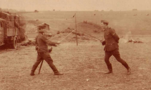 Sword Play at the Front