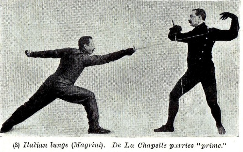 Italian Lunge vs. French Parry