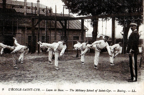 La boxe française (or savate) was part of the French military's close-combat training