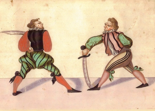 Fencing with the falchion