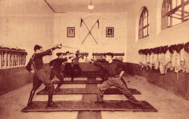 Cavalry Saber Practice of Belgian Lancers
