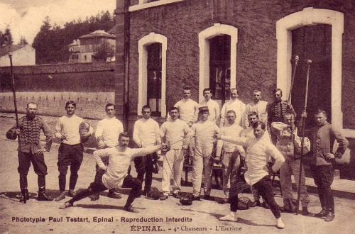 Military fencing school with the tools of the trade